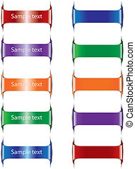 Set of paper  color tags. Vector illustration
