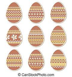 Set of paper Easter egg