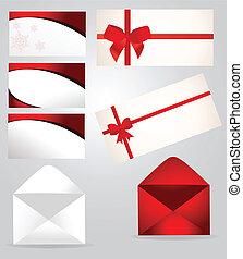 Set of paper envelopes