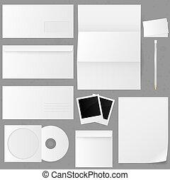 Set of paper envelopes. Vector illustration.