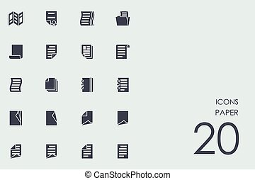 Set of paper icons