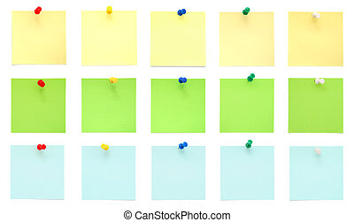 Set of paper notes