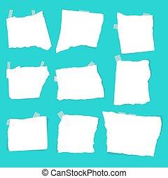 set of paper scraps