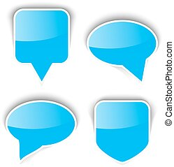 Set of paper speech bubble