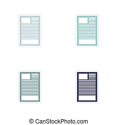 Set of paper stickers on white background document