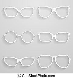 Set of paper sunglasses