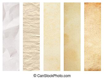 Set of paper texture