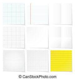 set of papers background vector