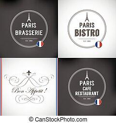 Set of Paris Badges