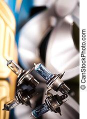 Set of parts car on vivid moto concept