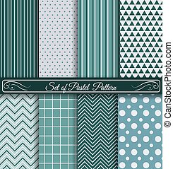 Set of Pastel Blue Pattern