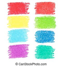 Set of pastel crayon spots, isolate