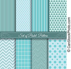 Set of Pastel light blue Pattern