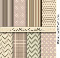 Set of Pastel Samless Pattern