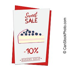 Set of pastry poster, banner for sale of cheesecake. Promo, adve