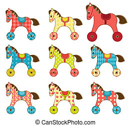 Set of patchwork horses 8.