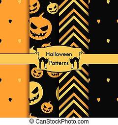 set of patterns Halloween