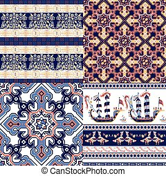 Set of patterns in the Greek style
