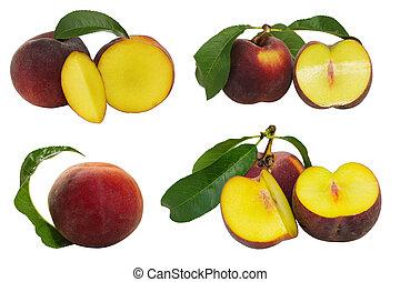 Set of Peach Fruits