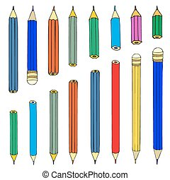 Set of pencils. Vector illustration