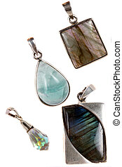 Set of Pendants - A set of silver pendants made with ...