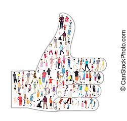 Set of People. Children, Adults, Seniors. Vector Illustration