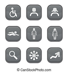 set of people icon, Vector