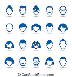 Set of people icons.