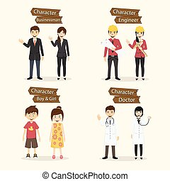 Set of people occupation characters vector illustration