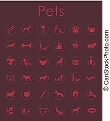 Set of pets simple icons