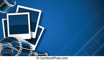 set of photo and video film picture vector illustration