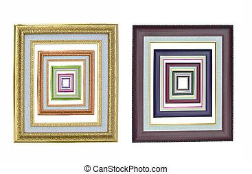 set of photo frames.