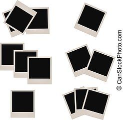Set of photo frames, vector eps10 illustration