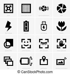 Set of photo icons