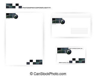 photographer corporate identity templates - set of...