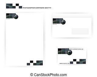 photographer corporate identity templates - set of...