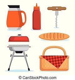 set of picnic icon