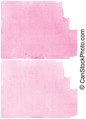 Set Of pink Abstract watercolor