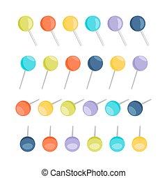 Set of pins