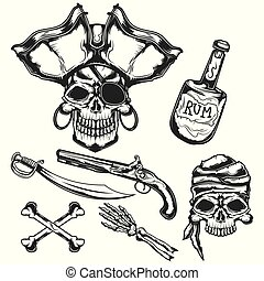 Set of pirat elements