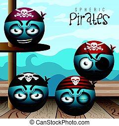 Set of pirate emotes
