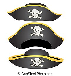 Pirate Hat Isolated - Set of Pirate Hat Isolated, Pirate...