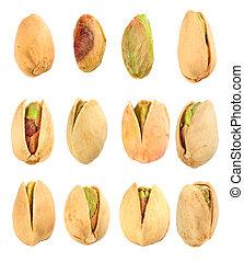 set of pistachios