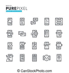 Set of pixel perfect icons