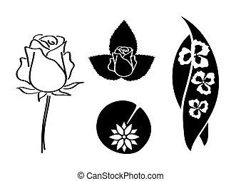 set of plants - vector illustration