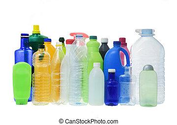 set of plastic bottle