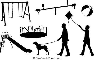 set of playground elements