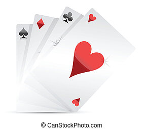 set of Playing cards illustration
