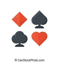 Set of playing cards symbols