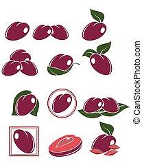 Set of plums